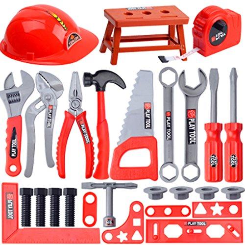 zeugkoffer Kinder Reparatur-Spiel-Werkzeug Kinder Werkzeugkoffer Set Kinder-Rollenspiele Spielzeug für Kinder ab 3 Jahre ()