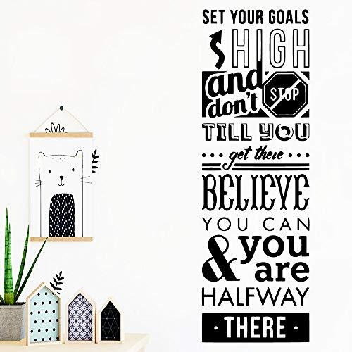 Dongwall Abnehmbare Zitat Worte Wandaufkleber Haus Dekor Moderne Abziehbilder Für Baby Kinder Wohnzimmer Dekorative Wandbild Poster 43 * 120 cm (Worten Dekor Hause)
