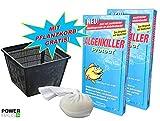 Weitz Algenkiller Protect - 300g - für bis zu 20 000 Liter Teichwasser - POWERHAUS24 Pflanzkorb!