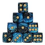 Würfel Spielzeug Spiele Spiele Zubehör Würfel Zubehör Polyhedrische Rollenspiel 10 teiliges Set Polyedrische mehrseitige Acrylwürfel