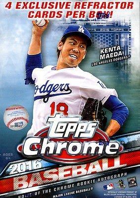 2016 Topps Chrome Baseball Hobby Box MLB