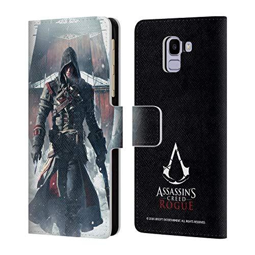 fizielle Assassin's Creed Shay Cormac Shiff Boesartig Schluessel Kunst Leder Brieftaschen Huelle kompatibel mit Samsung Galaxy J6 / On6 (2018) ()