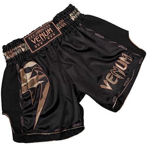 Venum Herren Giant Thaibox Shorts, Schwarz/Walt Tarnen, XS -