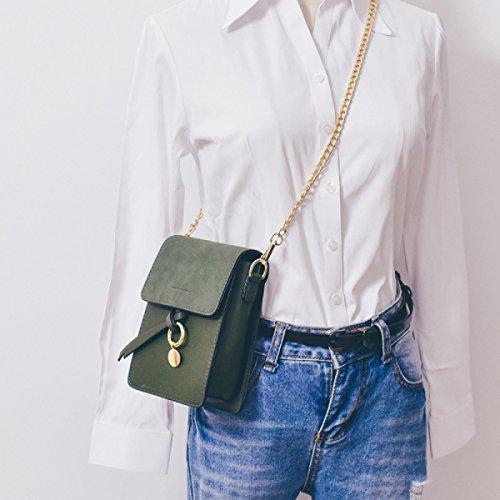 BUKUANG Telefono Donna Borsa Messenger Bag Mini Bag Catena Tracolla Selvaggio Piccolo Pacchetto Quadrato,F D