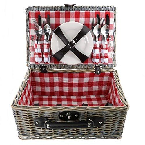 Picknick Korb für 4 Personen 21tlg.