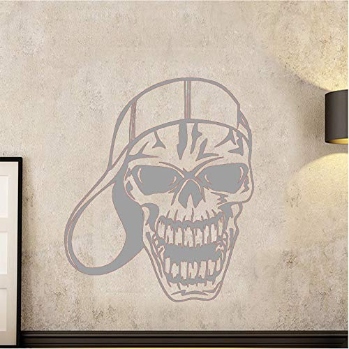 guijiumai Dctal Schädel Halloween Baseball Cap Aufkleber Punk Death Decal Devil Name Auto Kunst Wandtattoos Parede Decor Mu 4 58x69cm