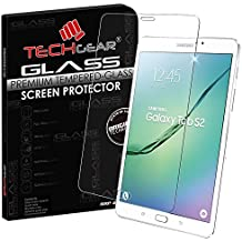 TECHGEAR® Samsung Galaxy Tab S2 8.0 Inch with LTE/4G (SM-T715) GLASS Edition Genuine Tempered Glass Screen Protector Guard Cover, [Importado de UK]