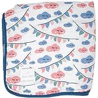 La manta para bebés de Emma & Noah es extra suave y acolchada, 100% algodón, tamaño 120 x 120 cm, 4 capas, perfecta como dou dou, arrullo, manta para el cochecito