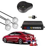 Car Rover® Auto Einparkhilfe Rückwärtseinparken Auto Rückfahrradar Rückradar Radar mit 4 Sensoren und Summer silber