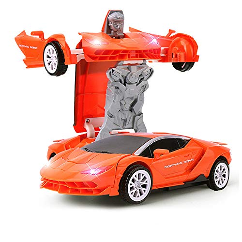 WISHTIME Verformung Auto Roboter Modell Fahrzeug Mini Auto Verformungsroboter Lamborghini Manuelle Transformator Auto Spielzeug Inertial Transformation Roboter Spielzeug für Kinder (Spielzeug-auto-transformator)