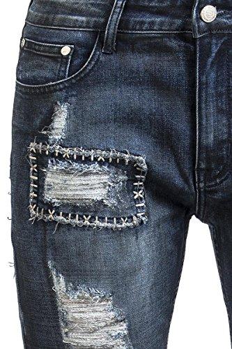 R.E.D. by EMP Square Stitching Jared (Slim Fit) Jean bleu Bleu