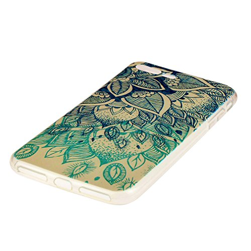 Custodia Cover per iPhone 7 Plus, Cover Silicone Morbido Trasparente Protective Case TPU Gel Ultra Sottile Cassa Protettiva Design per iPhone 7 Plus - Foglie Fortunate Foglie fortunate
