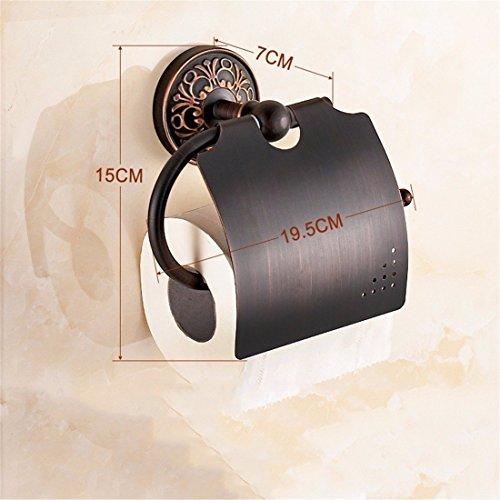 Zubehör für Badezimmer Griff in Antik Kupfer Schwarz Kostüm Handtuchhalter Rack, WC-Papier Stand