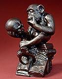 Wolfgang Hugo Rheinhold - Affe mit Schädel Skulptur Plastik Figur
