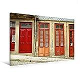 Premium Textil-Leinwand 120 cm x 80 cm quer, Eng stehende Türen, jede mit eigener Hausnummer   Wandbild, Bild auf Keilrahmen, Fertigbild auf echter Leinwand, Leinwanddruck (CALVENDO Orte)