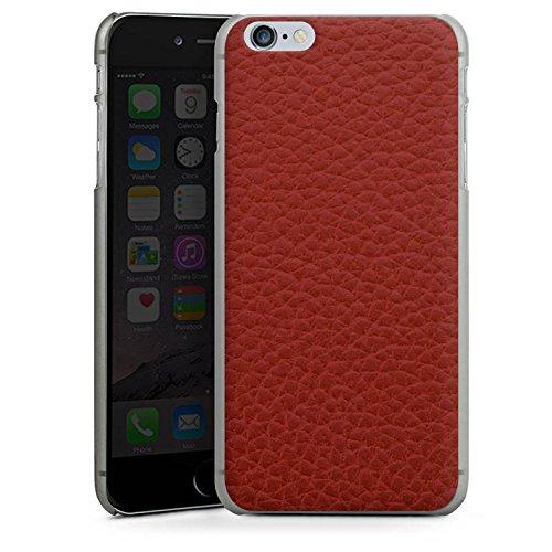 Apple iPhone X Silikon Hülle Case Schutzhülle Leder Look Rot Marsala Leather Hard Case anthrazit-klar
