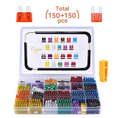 Conpro 150pcs Mini Fusible Voiture +150pcs Fusibles Voiture...