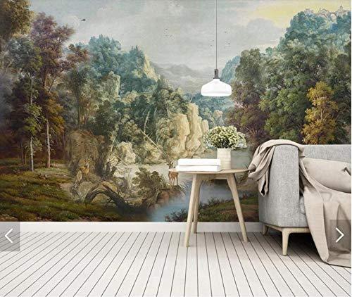 e Handgemalte Tropische Tapete Wandbild Dekor Wandkunst Aufkleber Fototapeten Malerei Dschungel Wandbilder 400x280cm ()