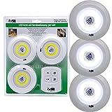 Starke 4 Teilige LED Leuchten Set + Fernbedienung Unterbauleuchte Küche Lampe, Mittels der Fernbedienung können die Leuchten bequem gesteuert Werden. Es sind 4 Funktionen einstellbar