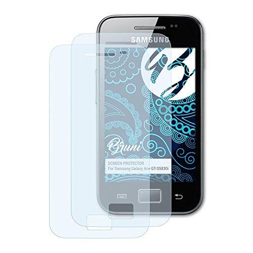 Bruni Pellicola Protettiva per Samsung Galaxy Ace GT-S5830i Pellicola Proteggi, Cristallino Proteggi Schermo (2X)