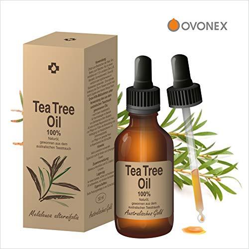 Antimykotische Behandlung Der Haut (Ovonex Teebaumöl | Essential Tea Tree Oil - 100% Naturrein, Australisches Teebaumoel (50ml) für gesunde Haut&Körper, Akne-Behandlung, Ideal gegen unreine Haut, Entzündungshemmend, Antibakteriell)