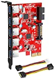 Inateck KT5001 5 Ports USB 3.0 PCI Express Card and 15 Pin...