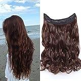 Haarteil Extensions 1 Tresse günstig Haarverlängerung Synthetische mit Draht Haarextensions für Haarverdichtung Gewellt Hair 16