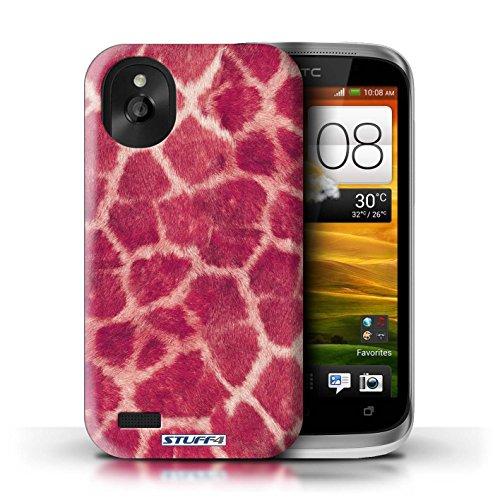 Kobalt® Imprimé Etui / Coque pour HTC Desire X / Rose conception / Série Girafe animale Peau/Motif Rose