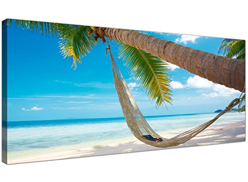 Wallfillers Gran Azul Lienzo Playa Tropical-diseño