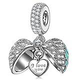 NINAQUEEN Amor Sorprendente Mujer Charm Colgante Plata 925 Compatible con la Pulsera de charms Joyas Regalo para Cumpleaños Aniversario día de San Valentín Día de la Madre Navidad Niña Esposa