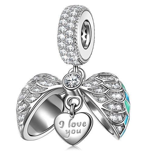 Ninaqueen donna pendant charm argento sterling 925 compatibile con charm bracciale e collana regali festa della mamma natale anniversario compleanno festa della mamma ragazza lei
