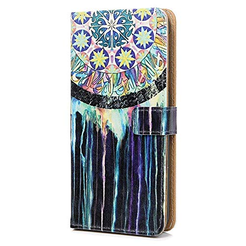 Thoankj Sony Xperia 10 Hülle, Stoßfest Slim PU Leder Flip Pouch Phone Silikon Cover mit Magnet Stand ID Card Holder Slot Protective Smartphone Cases for Sony Xperia 10 (Glitzer Protective Screen)