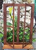 Deko-Fenster 45 x 33 cm zum Öffnen Rost Edelrost Metall + Original Pflegeanleitung von Steinfigurenwelt für Deko-Fenster 45 x 33 cm zum Öffnen Rost Edelrost Metall + Original Pflegeanleitung von Steinfigurenwelt
