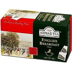 Ahmad Tea – English Breakfast| Schwarzteemischung | 40 Teebeutel á 2 g | Teebeutel ohne Band
