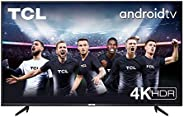 TV TCL 55P616 55 pollici, 4K HDR, Ultra HD, Smart TV con sistema Android 9.0, Design senza bordi (Micro dimmin
