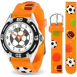 Bling Jewelry SRD-AB567 - Reloj, correa de goma color naranja