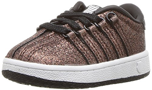 K-Swiss Baby Classic VN Sneaker, Bronze Sparkle, 2 M US Infant