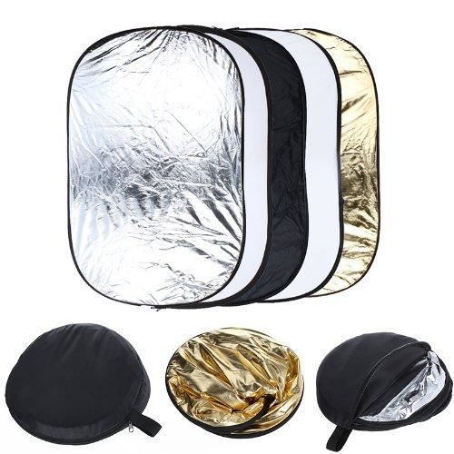 Andoer® 24' * 36' 5 en 1 Portable plegable reflector de luz ligero de estucio de Fotografía para varias fotos 60 x 90 cm