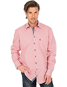 orbis Textil Trachtenhemd Langarm Rot Karo