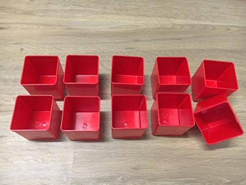 10Stück Insert45 Einsatzboxen rot für EuroPlus Flex und EuroPlus Metall