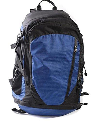 zaino trekking 40L sacchetti di alpinismo di viaggio per il tempo libero borsa sacchetto di campeggio uomini e donne paio Zaini da escursionismo ( Colore : Blu , dimensioni : 36-55L ) Blu