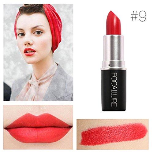 Yogogo - Rouge à lèvres - Nouveau Cosmétiques Mode Métalliquepour maquillage beauté longue durée 9#