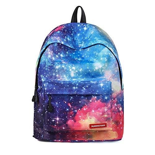 Galaxy Womens Rucksack (Miya Backpack Schulranzen Beiläufig Schulrucksack Mädchen Mädchen Schulrucksack Teenager Galaxy Print Damen Backpack Rucksäcke College Schulrucksack Daypacks)