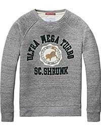 Scotch Shrunk Jungen Sweatshirt Poly Cotton Crew Neck Sweat with College Artworks