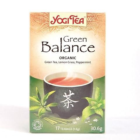 Yogi Tea Green Balance (17 Bags) Green Tea + Kombucha Gluten Free Organic Vegan