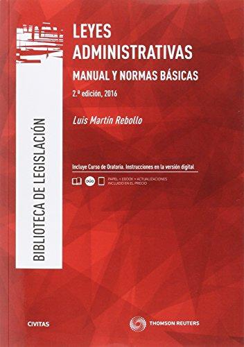 Leyes Administrativas.Manual y Normas básicas (2 ed. - 2016) (Biblioteca de Legislación) por Aa.Vv.