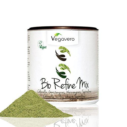 Superfood BIO Refine Mix Vegavero | Con Spirulina - Chlorella ed Erba di Grano | 200g in pratica confezione salva-aroma | Vegan | ingredienti biologici controllati
