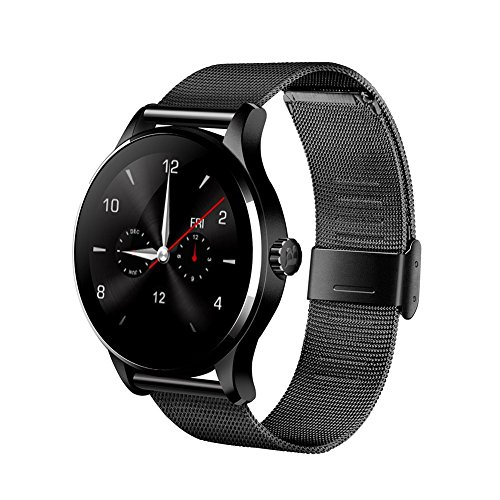 Efanr K88H Bluetooth Smart Watch con cinturino in acciaio INOX, orologio da polso Smartwatch contapassi cardiofrequenzimetro...