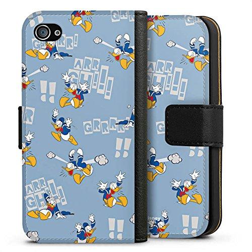Apple iPhone X Silikon Hülle Case Schutzhülle Disney Donald Duck Geschenke Fanartikel Sideflip Tasche schwarz