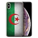 Stuff4 Coque Gel TPU de Coque Apple iPhone XS Max/Algérie Design/Drapeau Collection